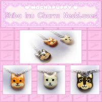 Cute Shiba Inu Charm Necklaces For Sale! by Demonstarr13