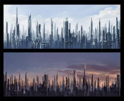 Future Cityscapes by Kala-A