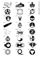 Bond Villain Logos (Simplified) by wreak-some-havok