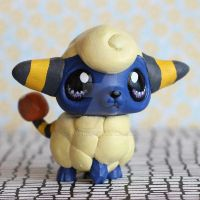 Littlest Mareep LPS custom by pia-chu