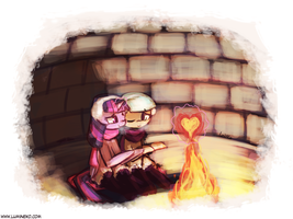 Can you feel my warmth? (30minutechallenge) by luminaura