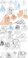 Huge Bib Fortuna doodle dump by Livie-Lightyear