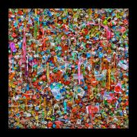 Gum wall under table top.L1010746, with story by harrietsfriend