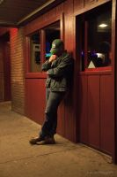 On the Streets of Flagstaff at Night by Mac-Wiz