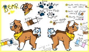 Bear's Ref Sheet by Shelshea
