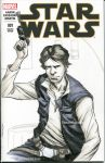 Han Solo Star Wars Sketch Cover by nguy0699