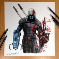 17 Game Character Combined into one Pencil Drawing by AtomiccircuS