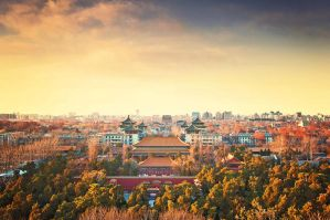 Sunset Beijing City In Downtown by sunny2011bj