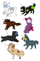 Puppies For Sale :2 LEFT: by Sesshomaru-XD-13