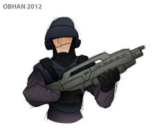 Quick Sketch - Old Starship Troopers by Obhan