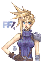 ff7 cloudia by emlan