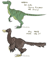 A thing about dinosaurs by Ribbedebie