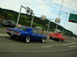 2x 1970 chally by AmericanMuscle