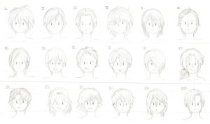 Hairstyles for boys by Misaki-chama