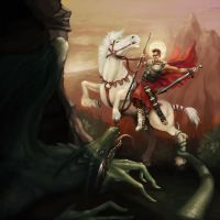 St. George and the Dragon by kelaydinov