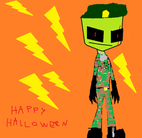 crappy halloween outfit by invaderzimFTW2343