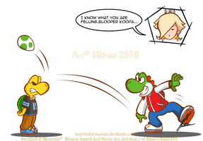 AT: Blooper Koopa and Xavier by MKDrawings