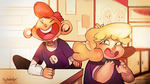 Lars and Sadie (Panel Redraw) by Sylladexter
