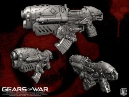 Gears of War Locust Hamerburst by YemYam