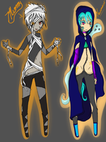 Zombie and Necromancer adopts(Open) by Lina1562
