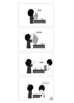dad shouldn't use stove or he'll burn the house by piyokonyan