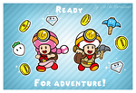 .:Toads on the way:. by CloTheMarioLover