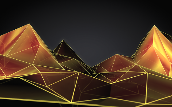 Low poly abstract landscape by Nushulica