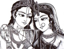 Lord Krishna and Radha Rani by nairarun15