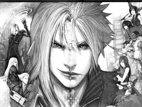Sephiroth vs Cloud y amigos Version 1 by pili96
