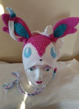 Sylveon beanie hat by Sasophie