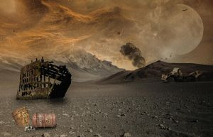 Wasteland.. by WelshDragonStockNArt