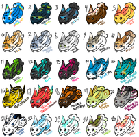 Mixed Rabbit Adopts Sheet -7 OPEN- by TwoNovas