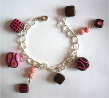 Pink chocolate bracelet by Angelic14