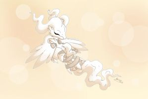 Sleeping Reshiram by MySweetQueen