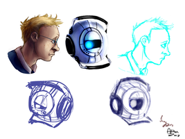 Wheatley compilation collab dump thing by InyWolf