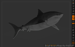 Great White Shark Z-brush WIP Another angle by yankeetrex