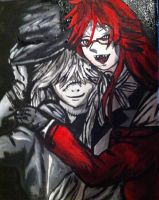 Grell and undertaker by lightningstrikeart