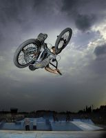 fliing on the bike by danielVojtech