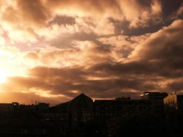 Sunset Over Berlin 70 by ErinM2000