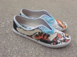 Arcanine shoes by snowfox41011