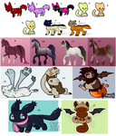 Cheap unsold adopts - 5/17 left! by SolarGem