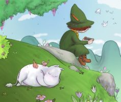 Moomins - Daydreamin by Niladhevan