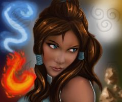 Korra The New Avatar by PolyMune