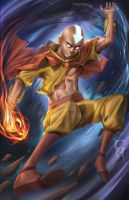 Avatar Aang Fanart by christianamiel21