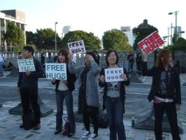 Free Hug Campaign-Japan by Nymphsis