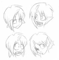 Gendo faces by flipsidered