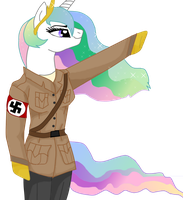All heil Princess Celestia by Archaopteryx