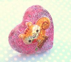 BIG happy squirell ring by Daisy--Chains