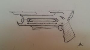 Plasma core pulse gun for weapons contest 5/3/15. by AccountName4