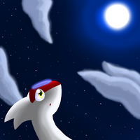 Look Up To The Moon by oldanthropokemon